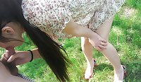 Chinese college girl fucked in public