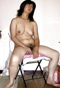 Japanese middle-aged wife hairy pussy